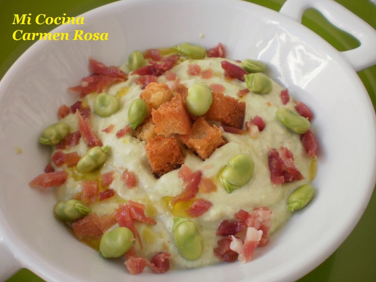 Mi cocina porra blanca de habas frescas for Mi cocina malaga