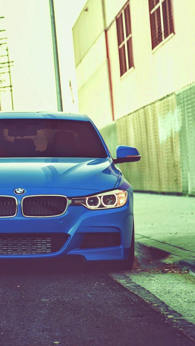 Bmw 328i blue car tuning iphone 6 wallpaper