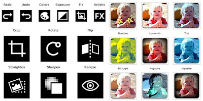 Icone del software per il ritocco fotografico in Ice Cream Sandwich
