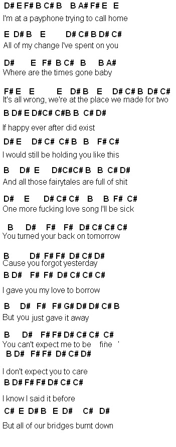 payphone piano notes with letters Car Tuning