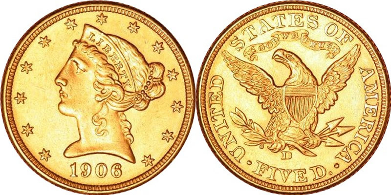 1861 Coronet Twenty Dollar Gold Piece