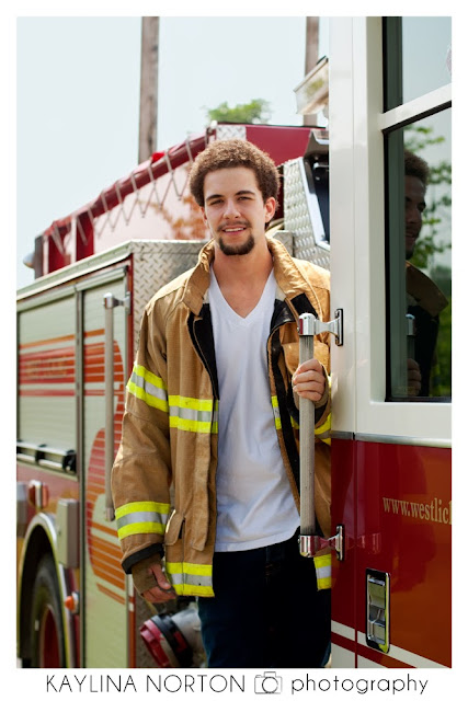Senior Pictures Fire Station