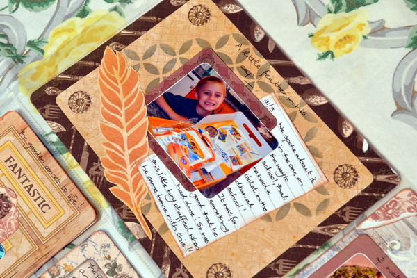 Misc. Me Spread by Denise van Deventer using BoBunny Provence Collection and Misc. Me