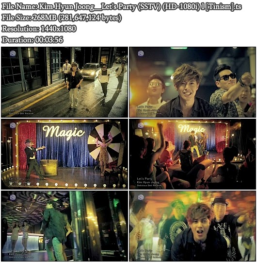 Download PV Kim Hyun Joong - Let&#39;s Party (SSTV Full HD 1080i)