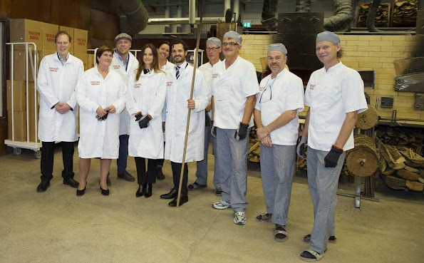 Princess Sofia of Sweden and Prince Carl Philip of Sweden visiting the Skedvi brot bakery in Dalarna