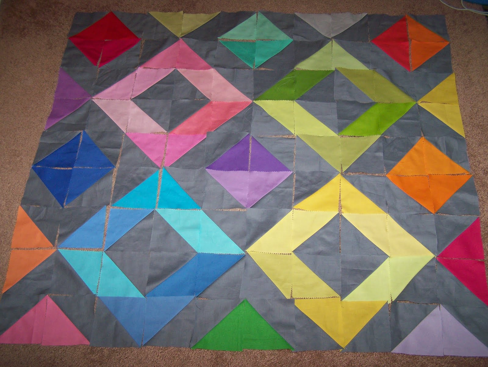 Rainbow Diamonds Mini Quilt Tutorial | Craft Buds : craft quilt - Adamdwight.com