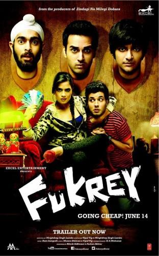 Fukrey 2013 720p DVDRip 950mb Download