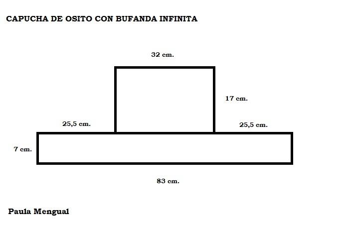 Paula Mengual Tejidos de Autor: Tutorial Capucha de Osito con ...
