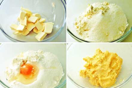 замешиваем тесто и помещаем его в холодильник на один час (предварительно заворачиваем в пищевую пленку или кладем в пакет).