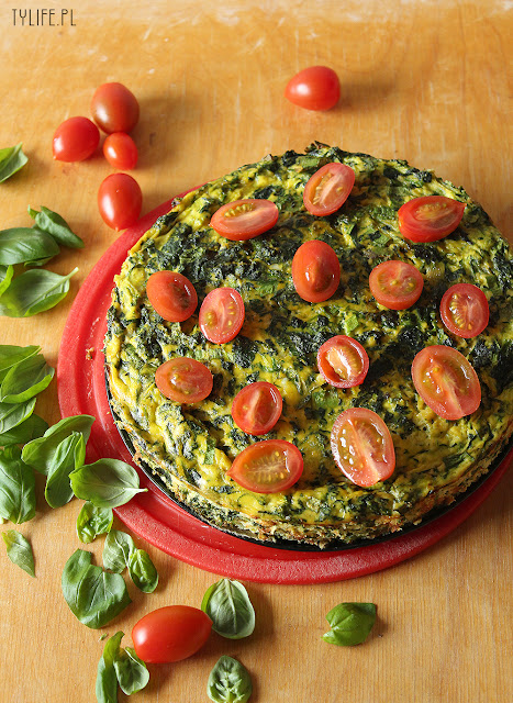 frittata with spinach and zucchini