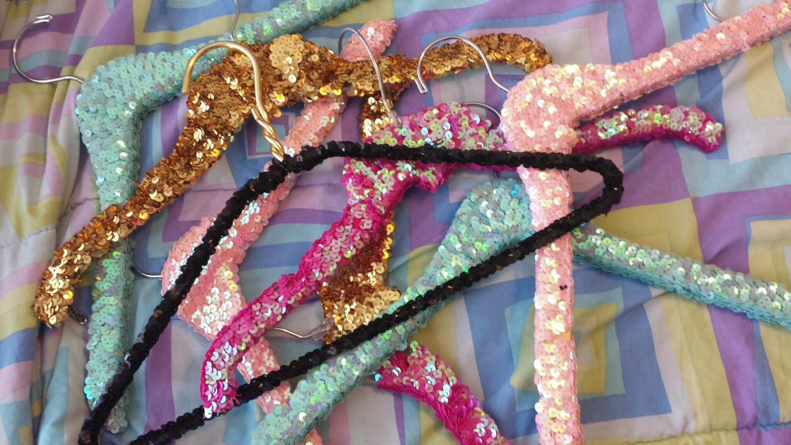 pearls and pastries, etsy, sequin hangers, diy, sale, hangers, cute room ideas, decor, sequins, p&p shop, the original sequin hanger