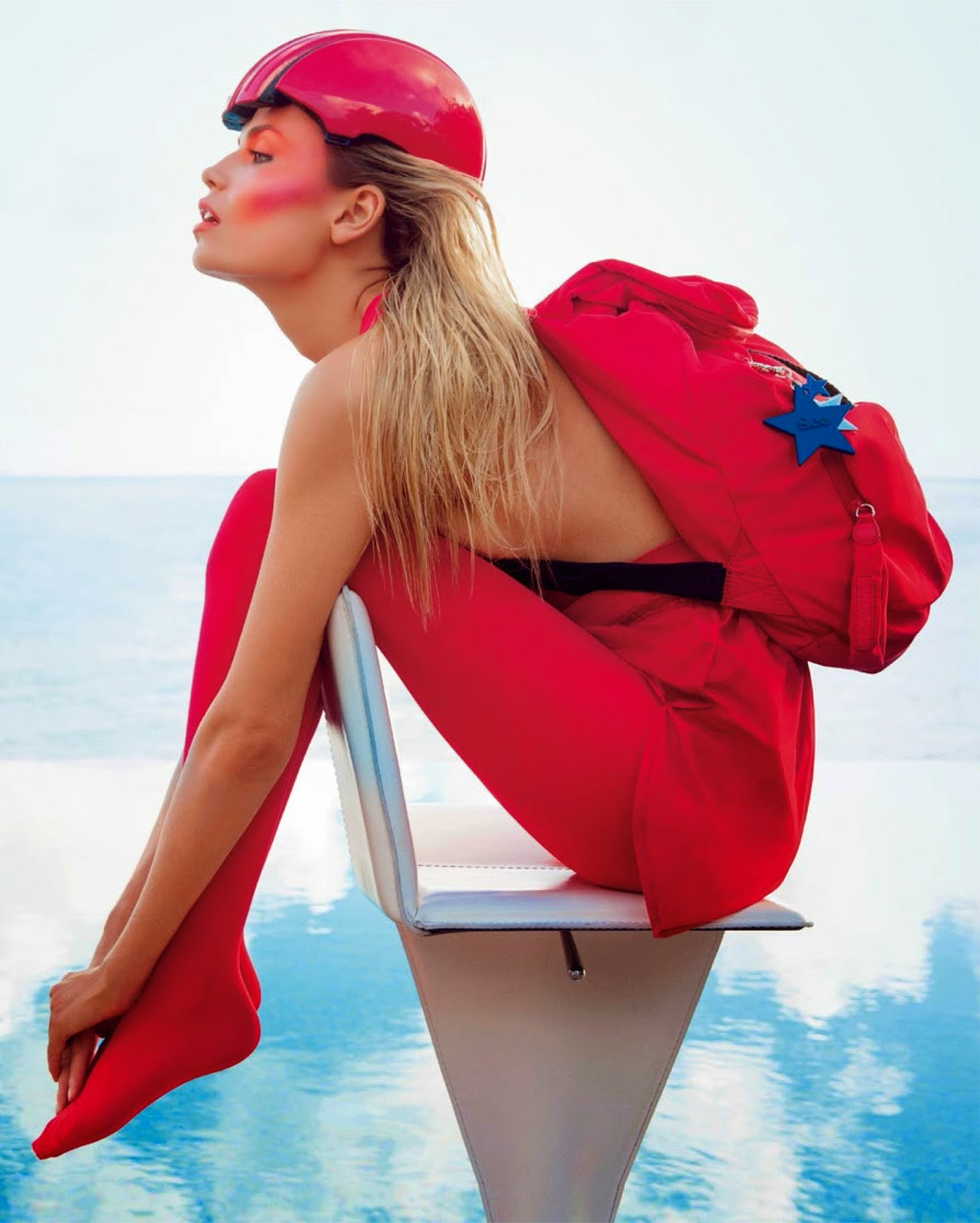 Natasha Poly by Inez Van Lamsweerde & Vinoodh Matadin For Vogue Paris Magazine, June /July 2014