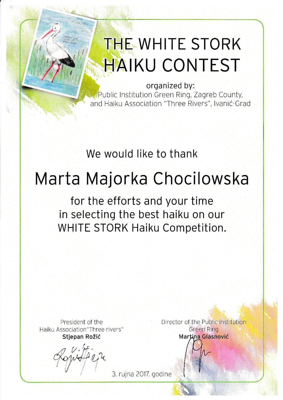 White Stork Contest