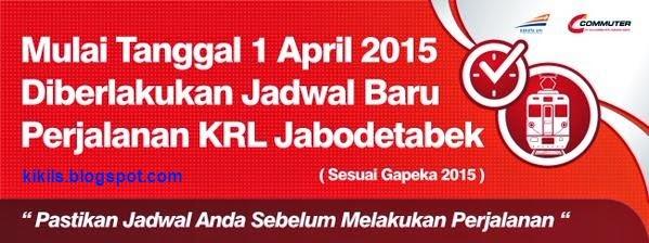 Jadwal KRL Baru Perjalanan KRL Jabodetabek Mulai Tanggal 1 April 2015