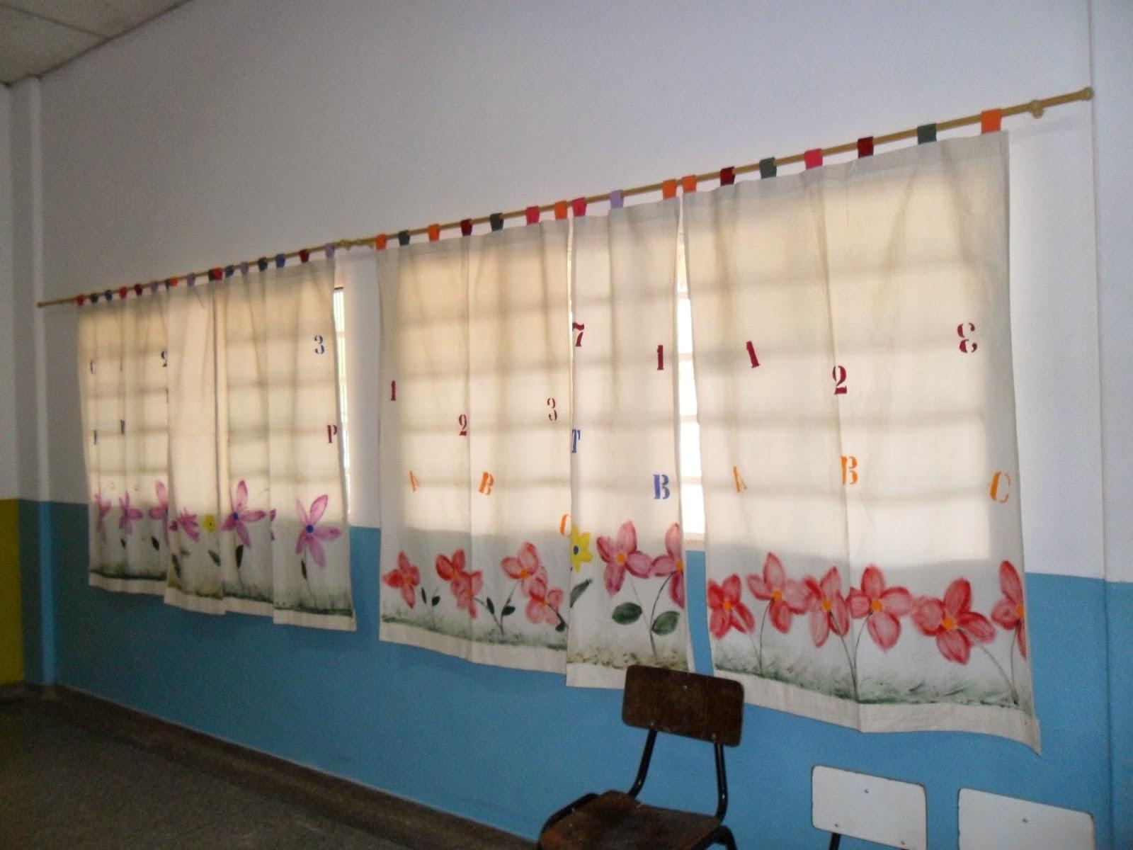 Escola municipal doce saber salas de aula agrad vel for Cortinas para aulas
