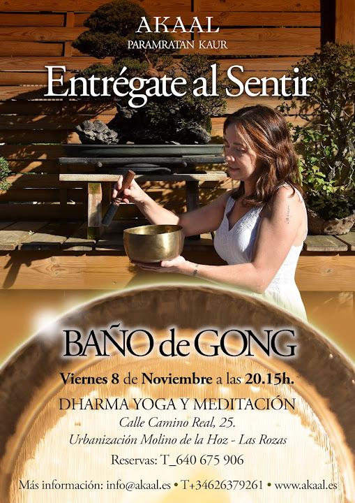 BAÑO DE GONG DHARMA YOGA Y MEDITACIÓN 8 DE NOVIEMBRE