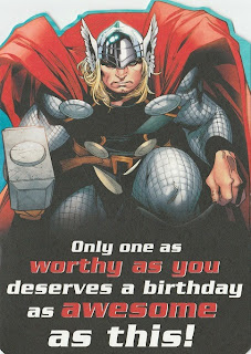 Front of Thor 2011 Pop up birthday card from Hallmark