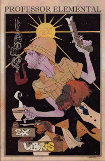 The cover of Professor Elemental comic issue 1 showing the Professor holding a gun and cup of tea and Geoffrey holding a saucer.