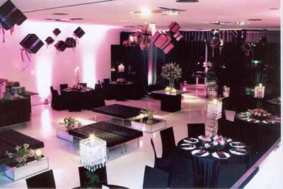 Decoração aiver 15 anos rosa com preto
