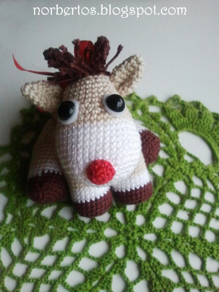 Crochet Rudolf the reindeer