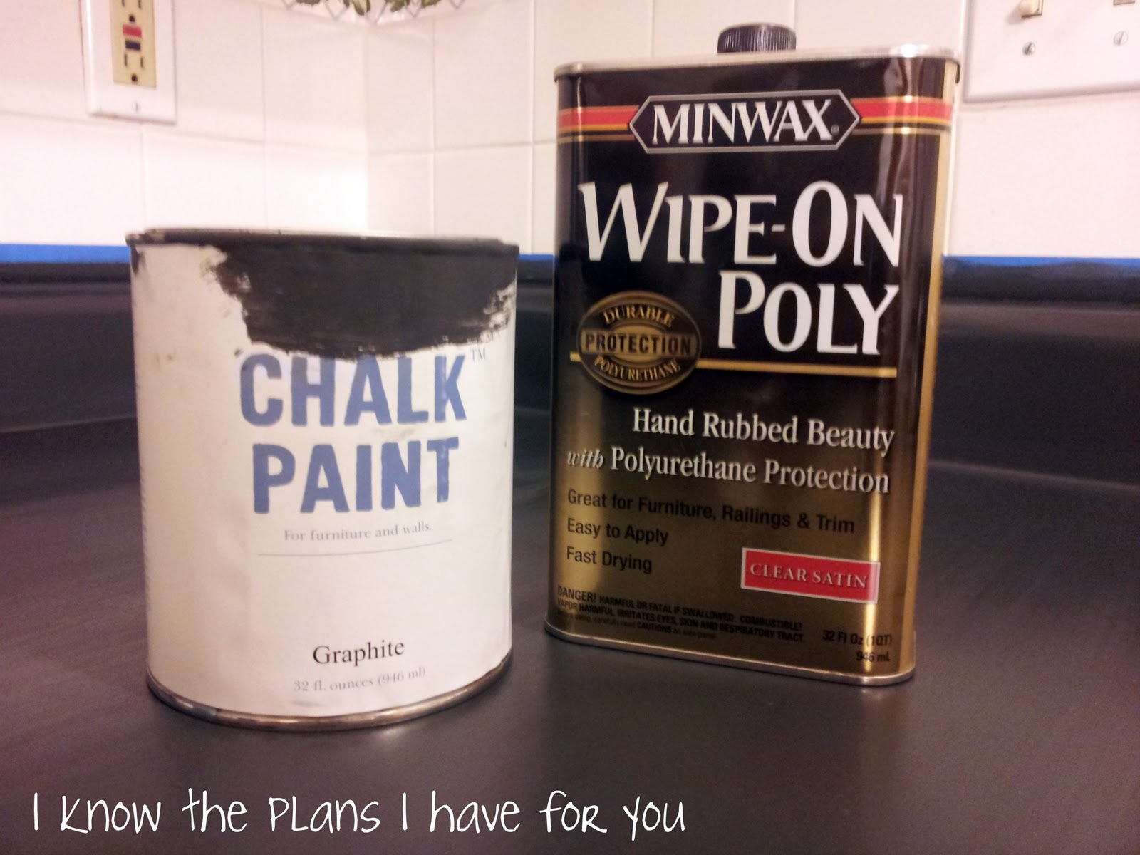 Countertop Chalkboard Paint : ... Plans I Have For You: Ive PAINTED the counter tops with CHALK PAINT