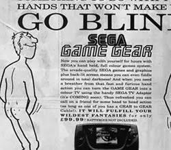 Campanha da Sega que associa o vício do vídeo game com a masturbação.