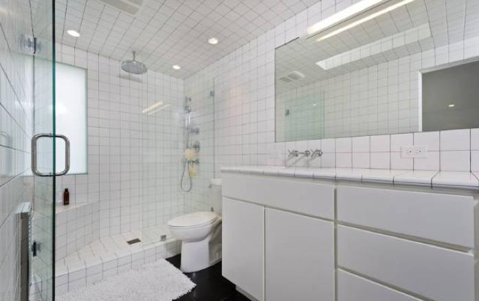 Simple Mid Century Modern Bathroom Tile O Throughout Design Ideas
