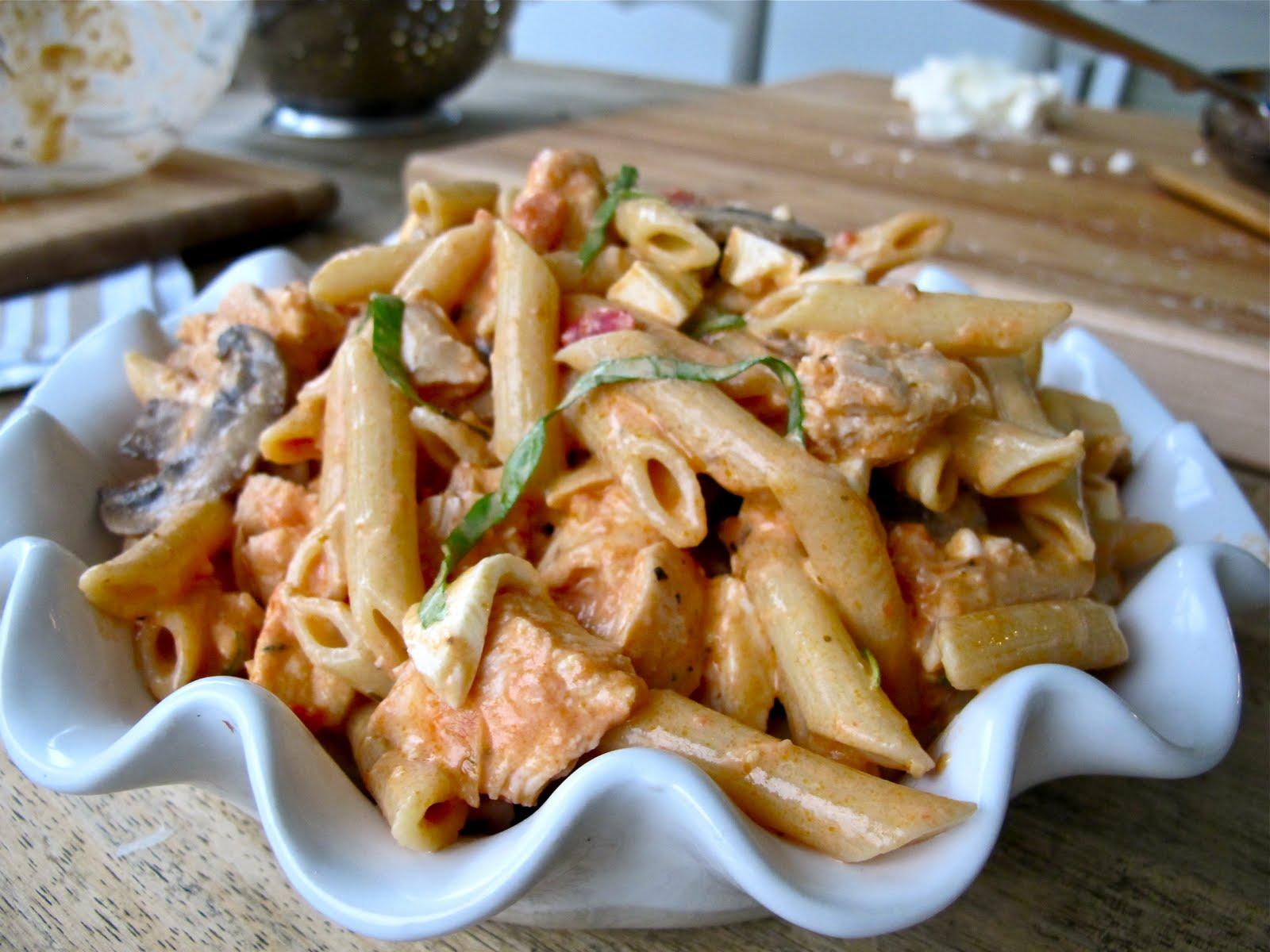 ... Pasta Pie | Chicken Tomato Cream Sauce Baked with Fresh Mozzarella
