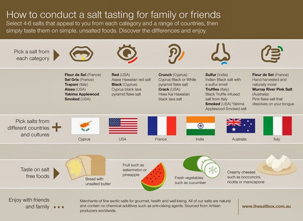 infographic on how to conduct a salt tasting