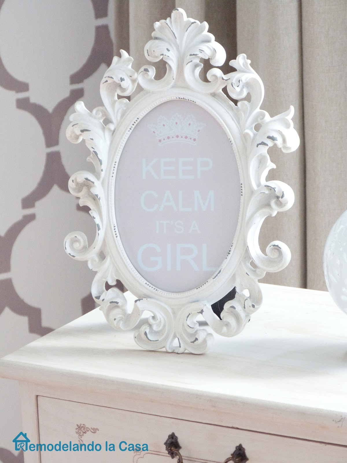 Keep calm it's a girl frame for baby girl nursery
