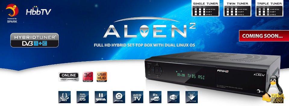 Amiko Alien Full HD Digital Receiver & Media Player - Dual Linux OS