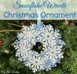 snowflake wreath ornament
