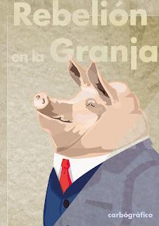 Rebelión en la granja,ilustracion y diseño en sevilla,ilustración  editorial,ilustrador sevillano