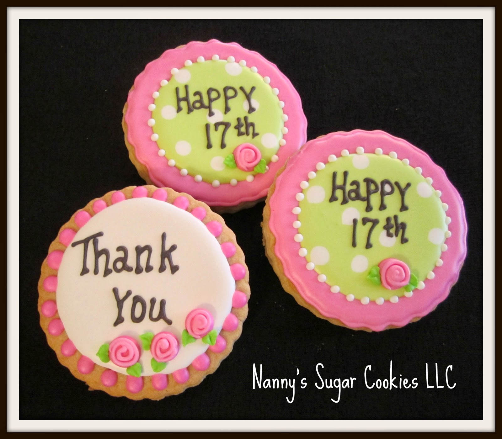 Nanny's Sugar Cookies ... Round Birthday Sugar Cookies