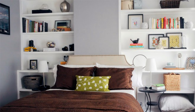 Marzua gane espacio con estanter as de obra - Estanterias de obra para salon ...