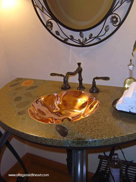 Bachas Para Baño De Cemento:Bacha de baño artesanal de cobre