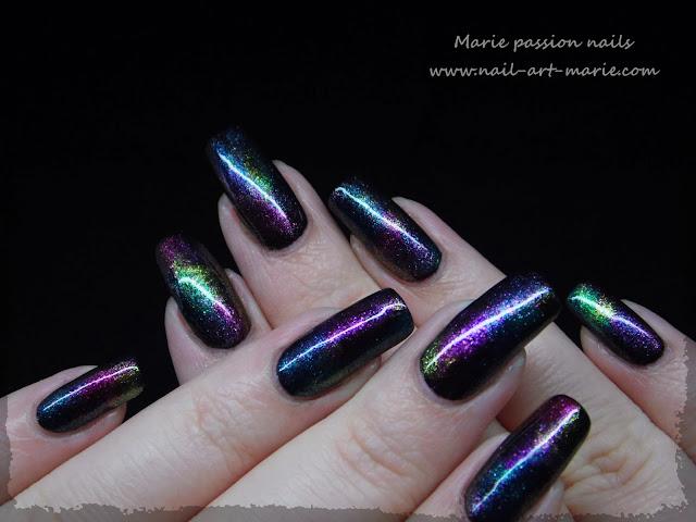 Nail art aurore boréale5