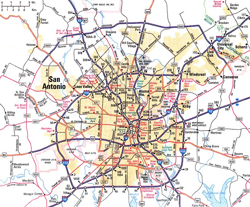 this is a simple map of greater san antonion texas