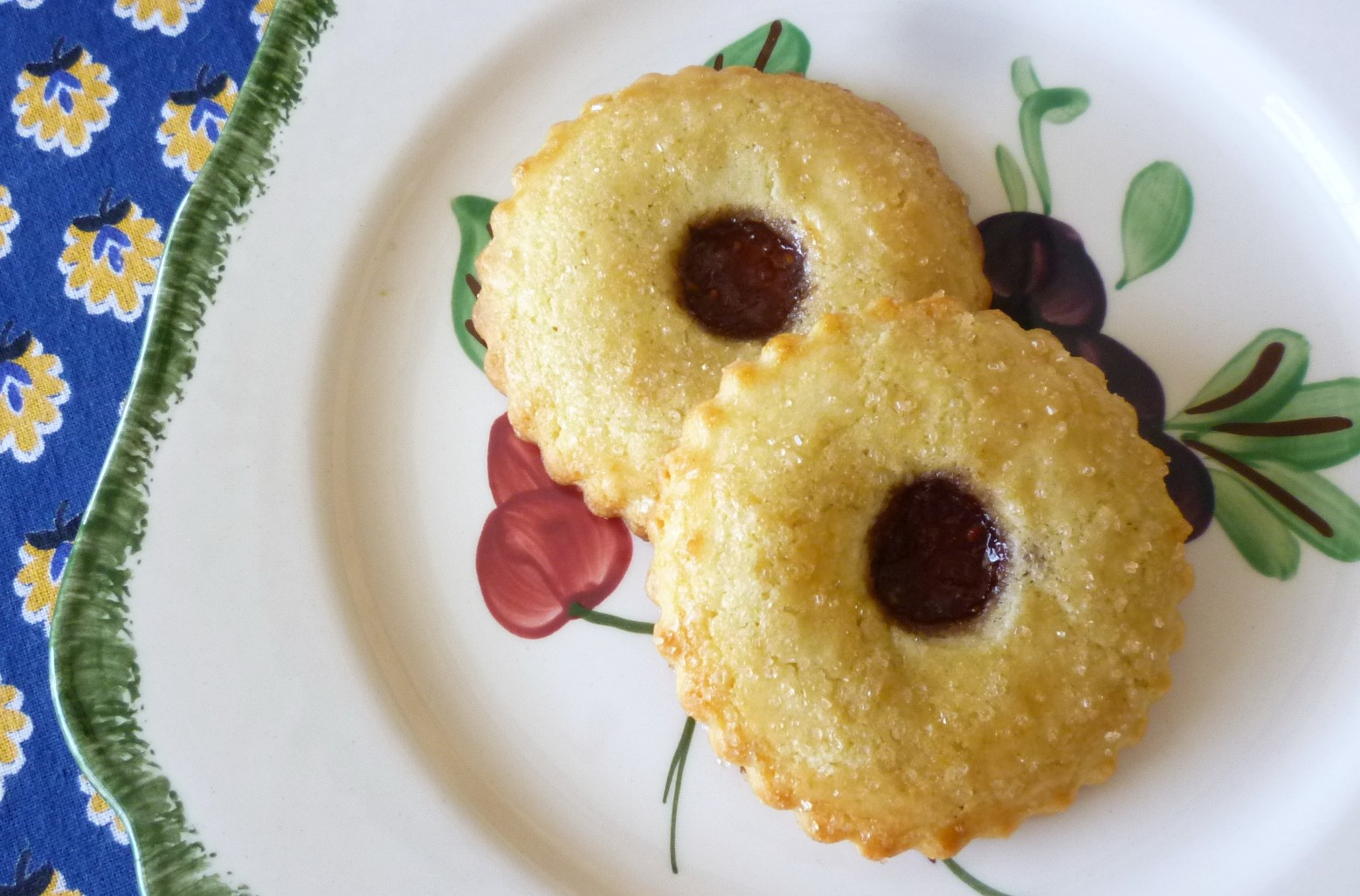 ... of the Table: Jam Filled Sugar Cookies and an Italian-style Jam Tart