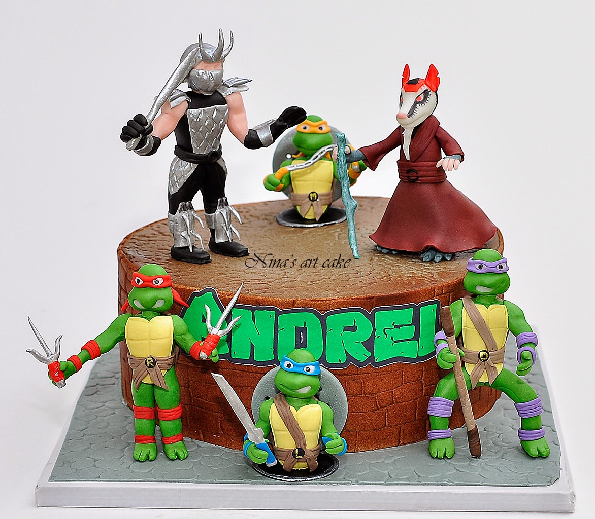 "Tort ""Tesoasele Ninja & Splinter & Shredder"""