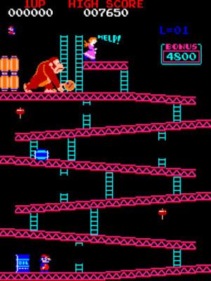 街機:大金剛(Donkey Kong)+金手指作弊碼,大型電玩最普及的遊戲之一!