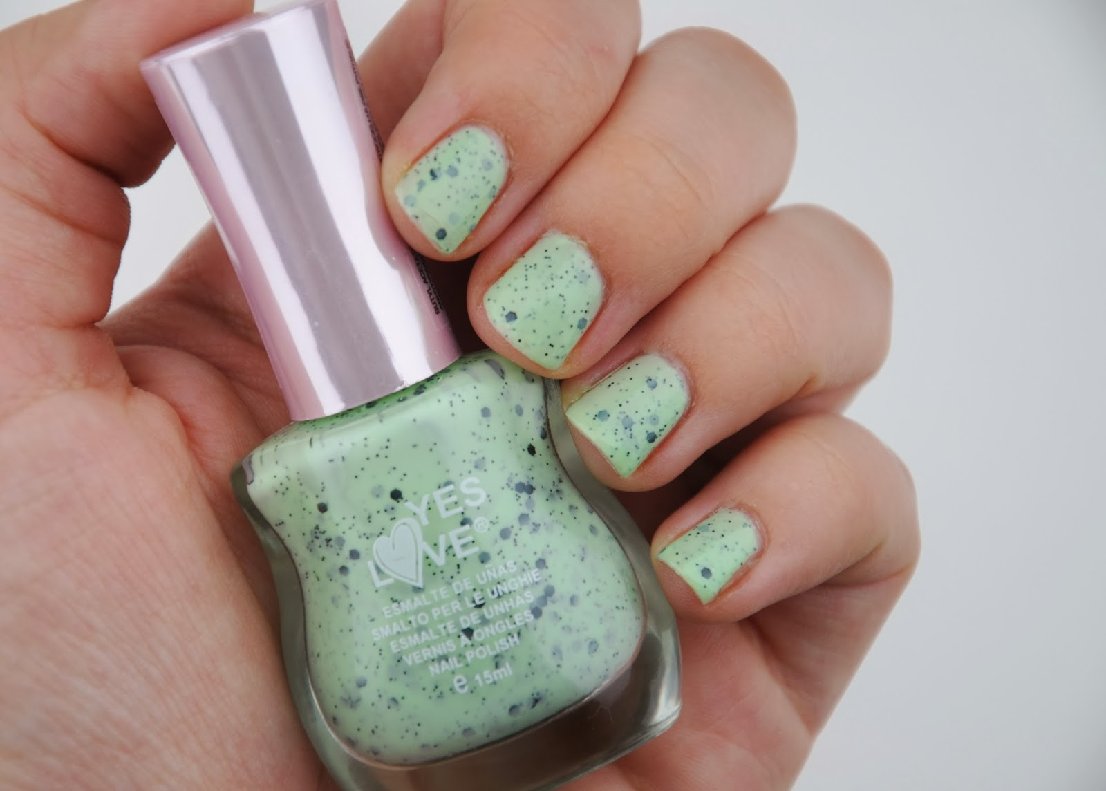 yes love speckled nail polish review swatch dupe illamasqua mottle speckled