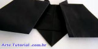 Origami de morcego para decoração de Halloween – Passo a Passo