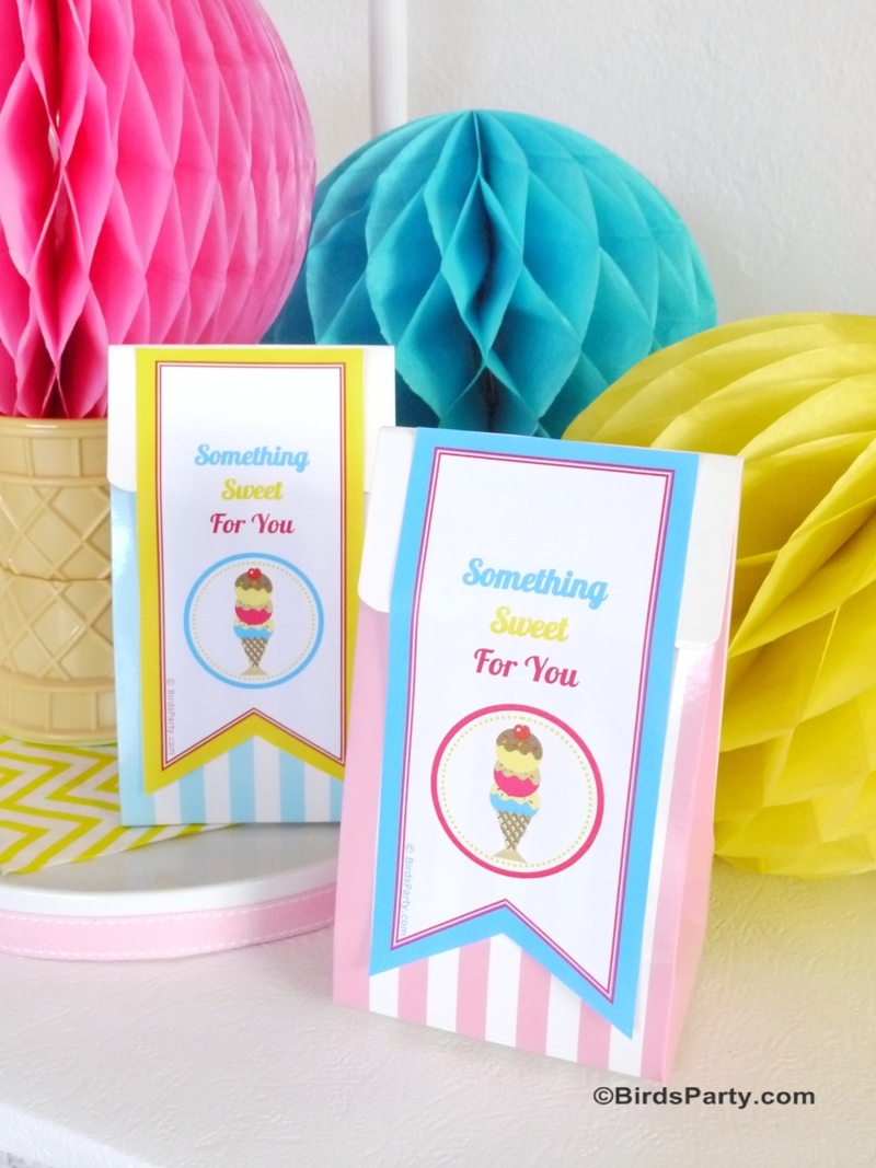 Ice Cream Social Party Printables and DIY Decorations