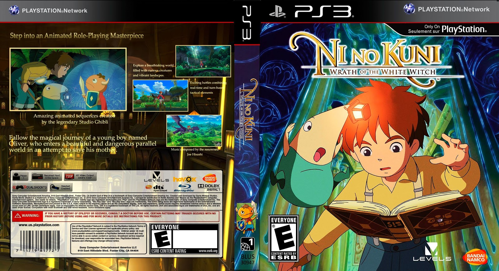 Capa Ni No Kuni Wrath Of The White Witch PS3