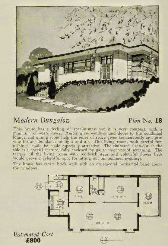 More Art Deco and Art Moderne House Plans! | Art Deco Resource