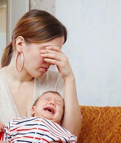 madre con depresión postparto