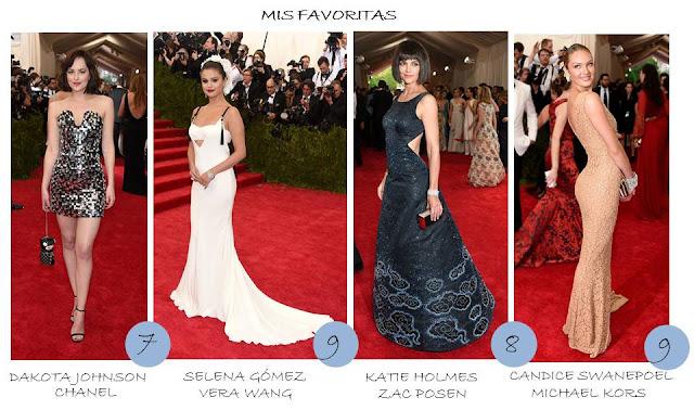 favoritas gala MET 2015
