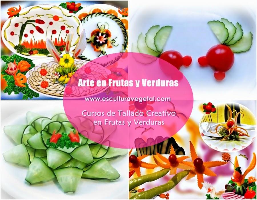 Escultura vegetal cursos de tallado creativo en frutas y for Decoracion con verduras