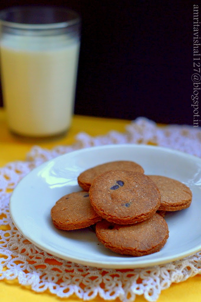 Sweet 'n' Savoury: Cookie glass & some choco-chip cookies